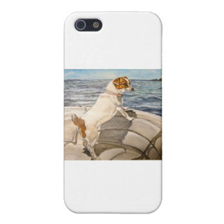 Jack Russell Terrier on boat iPhone 5/5S Cover