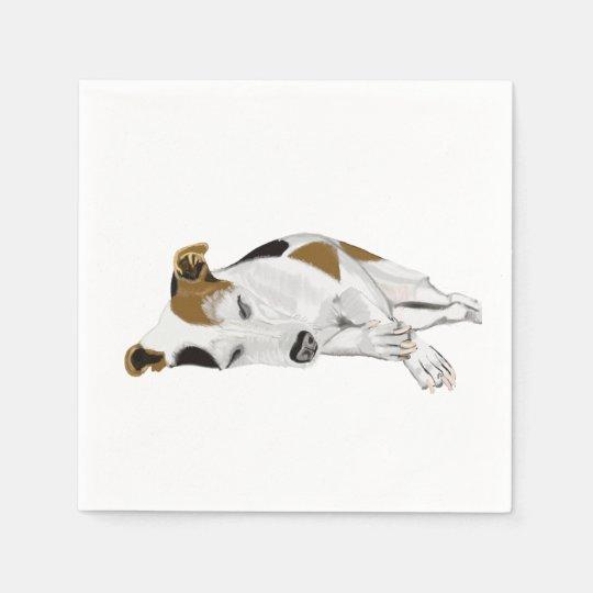 Jack Russell Terrier Peacefully Sleeping Disposable Serviette