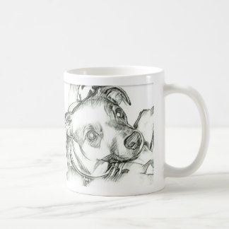 Jack Russell terrier pencil sketch Coffee Mug
