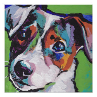 Jack Russell Terrier Pop Art Print