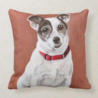 Jack Russell Terrier Portrait Pillow