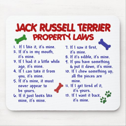 JACK RUSSELL TERRIER Property Laws 2 Mouse Mats