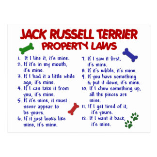 JACK RUSSELL TERRIER Property Laws 2 Post Cards