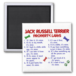 JACK RUSSELL TERRIER Property Laws 2 Square Magnet