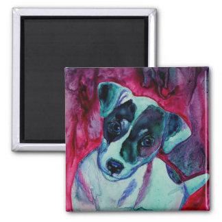 "Jack Russell Terrier Pup Magnet  - ""Julep"""