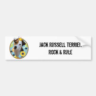 Jack Russell Terrier Rock & Rule Bumper Sticker