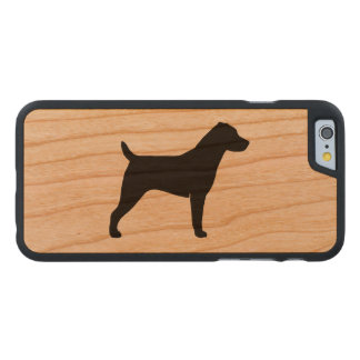 Jack Russell Terrier Silhouette Carved® Cherry iPhone 6 Case