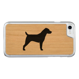 Jack Russell Terrier Silhouette Carved iPhone 7 Case