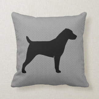 Jack Russell Terrier Silhouette Throw Pillow