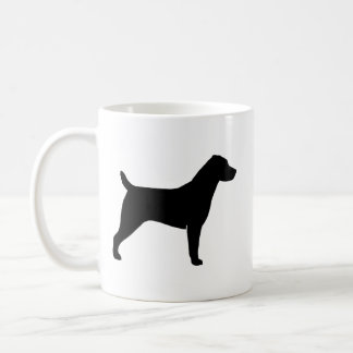 Jack Russell Terrier Silhouettes Pattern Coffee Mug