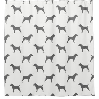 Jack Russell Terrier Silhouettes Pattern Shower Curtain