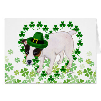 Jack Russell Terrier St. Patrick's Day Card