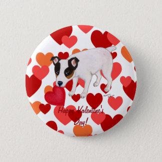 Jack Russell Terrier Valentine Button
