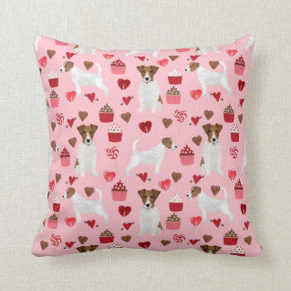 Jack Russell Terrier Valentines Love pillow