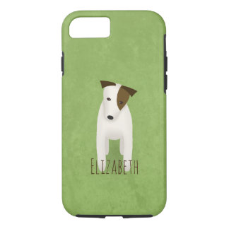 jack russell terrier with cute head tilt iPhone 8/7 case