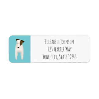 jack russell terrier with cute head tilt return address label