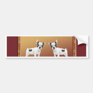 Jack Russell Terriers Asian Design Chinese Bumper Sticker