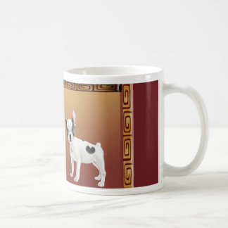 Jack Russell Terriers Asian Design Chinese Coffee Mug