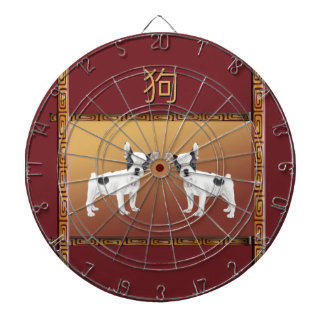 Jack Russell Terriers Asian Design Chinese Dartboard