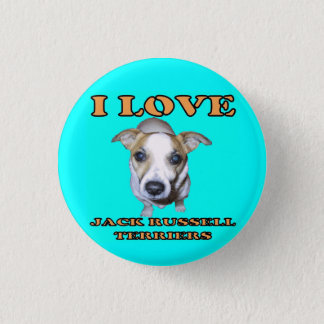 Jack Russell Terriers Button. 3 Cm Round Badge
