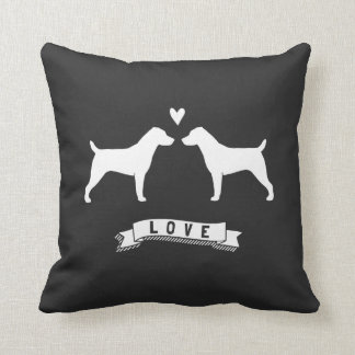 Jack Russell Terriers Love Throw Pillow