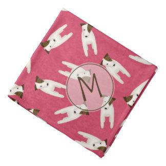 Jack Russell Terriers w cute head tilt monogrammed Bandana