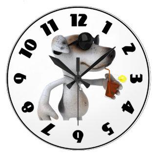 Jack Russell Wearing Sunglasses Clock