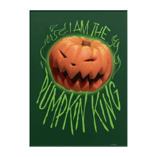 Jack Skellington | I Am The Pumpkin King Acrylic Wall Art
