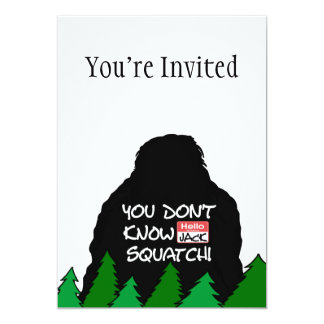 Jack Squatch 13 Cm X 18 Cm Invitation Card