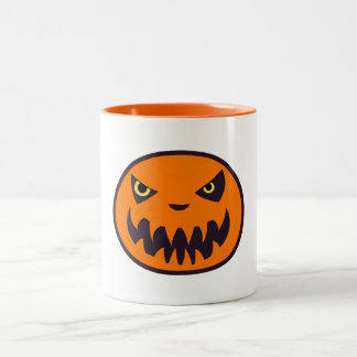 Jack The Lantern Halloween White with Orange Mug
