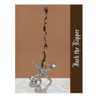Jack the Ripper - Postcard; Brown Border Postcard