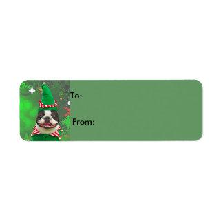 Jack the xmas Elf Return Address Label