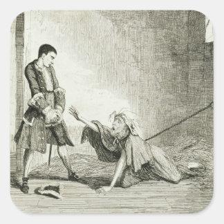 Jack visits his mother in Bethlehem Hospital, Lond Square Sticker