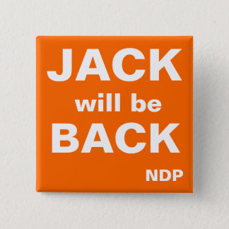 Jack will be Back 15 Cm Square Badge