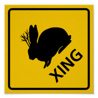 Jackalope Crossing Highway Sign