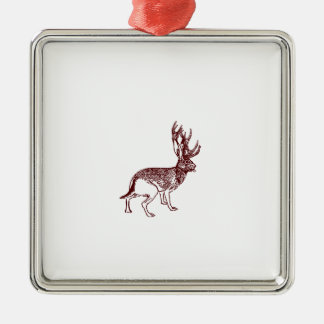 Jackalope Metal Ornament