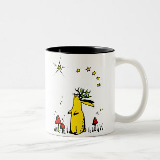Jackalope Night Two-Tone Coffee Mug