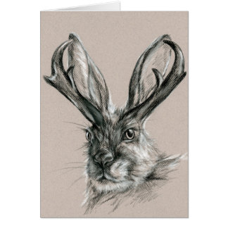 Jackalope Personalized Birthday Card