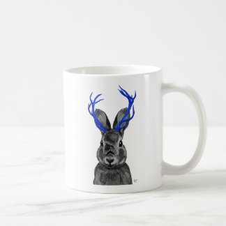 Jackalope with Blue Antlers Coffee Mug