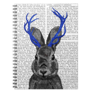 Jackalope with Blue Antlers Notebook