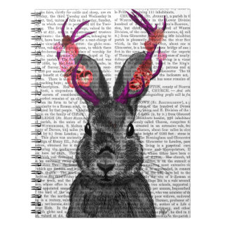 Jackalope with Pink Antlers Notebook