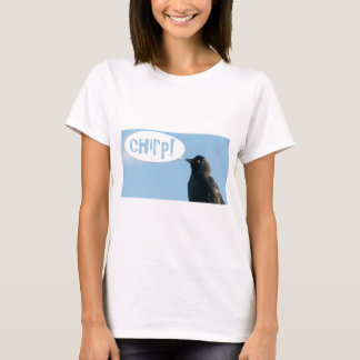 Jackdaw (Corvus monedula) says chirp. T-Shirt