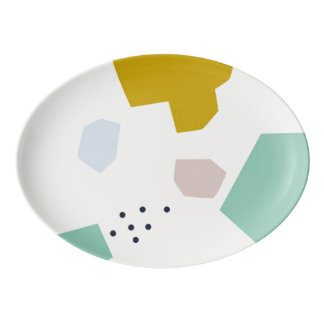 Jackdaw // Modern Abstract Pattern Platter Plate