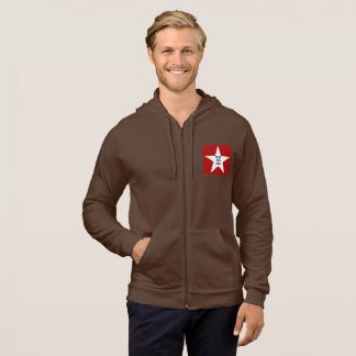 JACKET WITH HOOD BROWN    DESIGN   THE USA