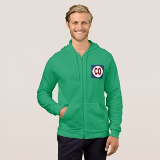 JACKET WITH HOOD GREEN GRASS DESIGN COLORADO THE