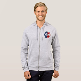 JACKET WITH HOOD HEATHER SIGNAL DESIGN OHIO SPORT