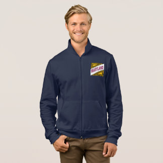 JACKET WITH HOOD NAVY NEW DESIGN MARYLAND THE USA