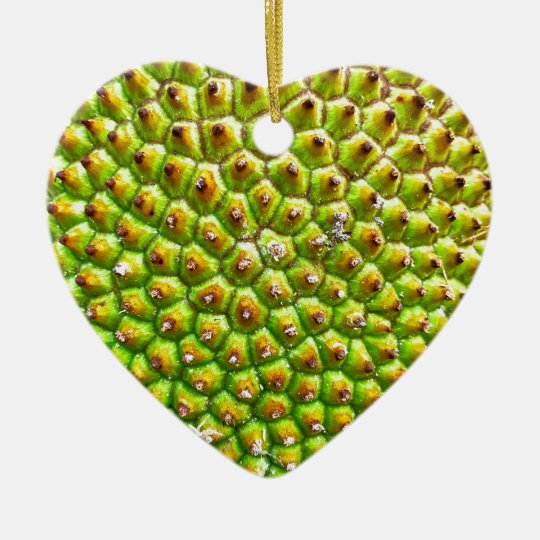 Jackfruit Dble-sided Heart Ornanent Ceramic Ornament