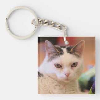 Jackie - Double Sided Square Keychain
