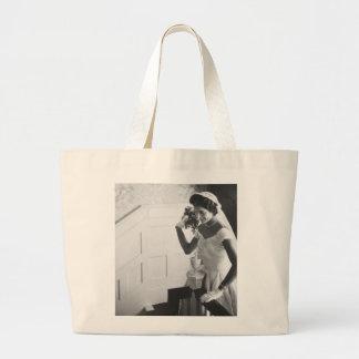 Jackie Kennedy, 1953 Large Tote Bag
